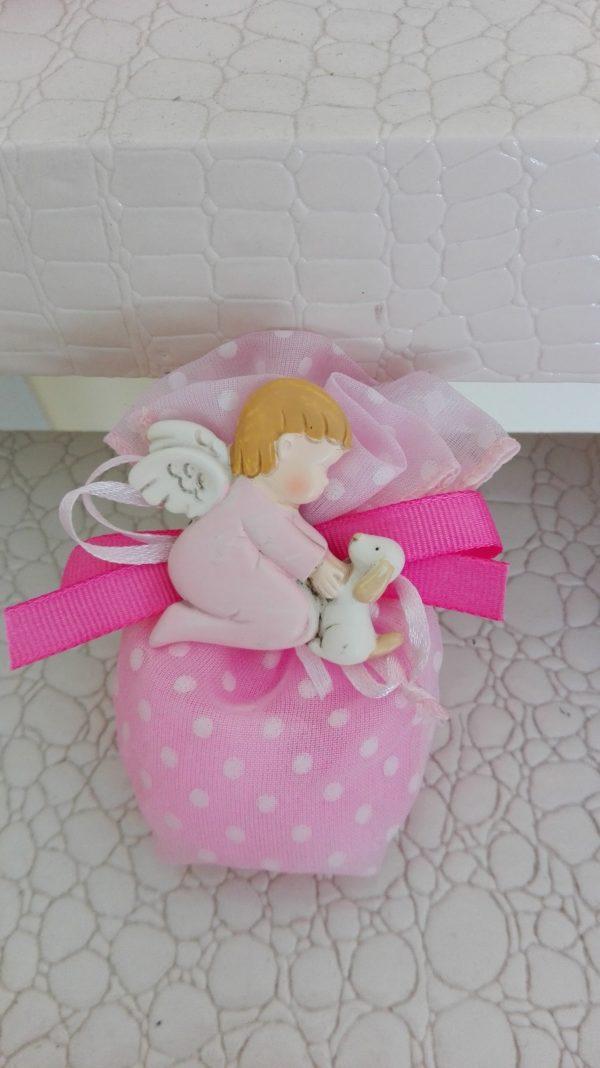 magnet angelo rosa con sacchetto